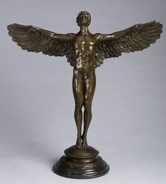 357: Large Arch Angel Bronze Figural