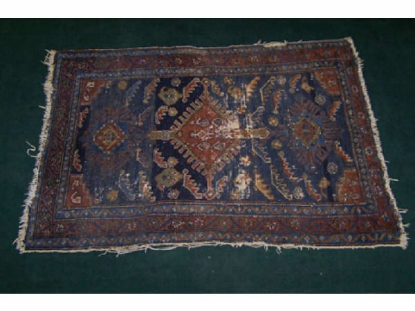 551: Antique Persian Hand Knotted Rug
