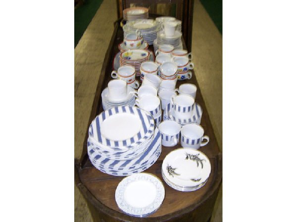 557: Lot of over 100 pcs. Assorted China and Dishware