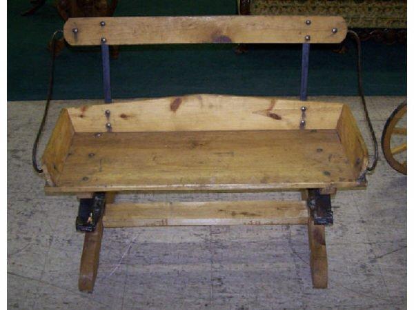 539: Rustic Pine Buggy Spring Seat