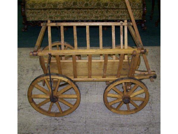 540: Hand made Rustic Goat Cart