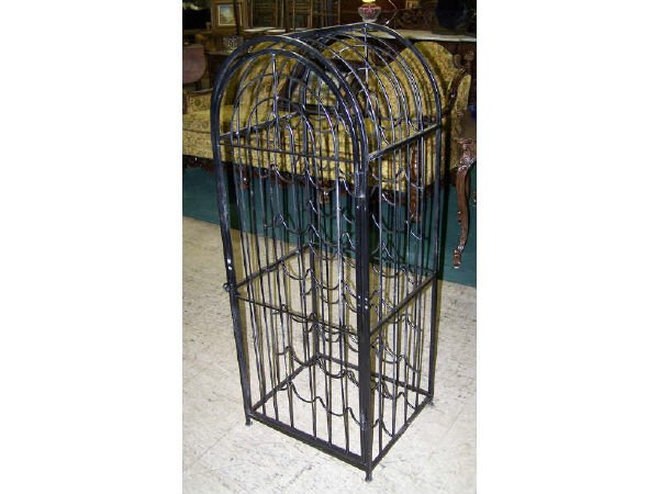 543: Sculpted Wire Wine Rack