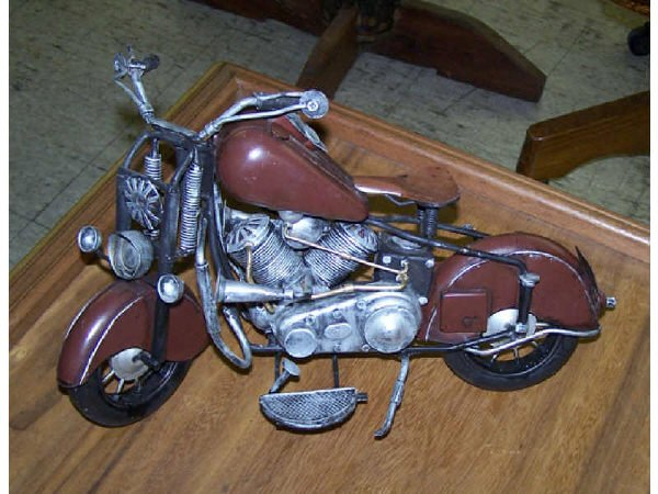 545: Scale Model Tin Toy of  Motorcycle