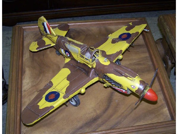 548: Scale Model Tin Toy Airplane WWII