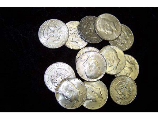 814: 13 Kennedy Half Dollars