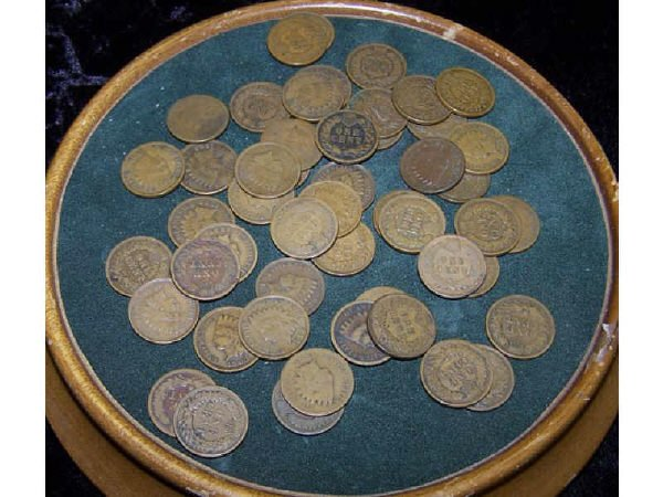 817: Lot of 51 Indian Head Pennies