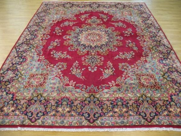 1002: A Good Kerman  Hand Knotted Rug