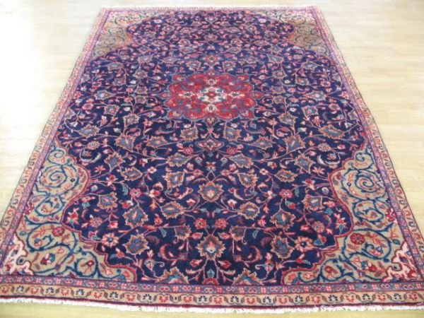 1008: Fine Hand Knotted Mahal  Persian Rug