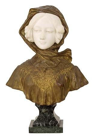 1016: Fabulous French Bronze and Marble Bust by Gory