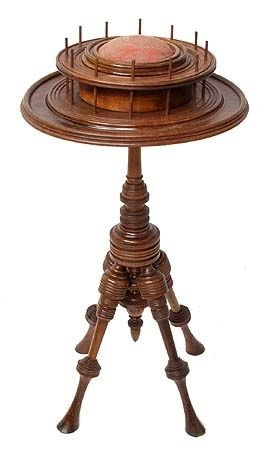 1023: Victorian Walnut Sewing Stand