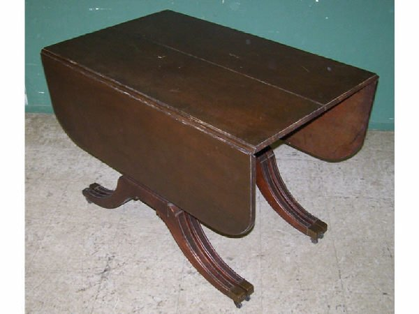 1319: Mahogany Triple Pedestal Dining Table