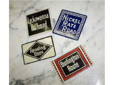 1595 Lot of Railroad Promotional Tin SIgns