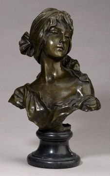 16: Fine French Bronze Bust on Marble Plynth
