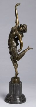 23: Bronze Figural Sculpture of Dancing Lady