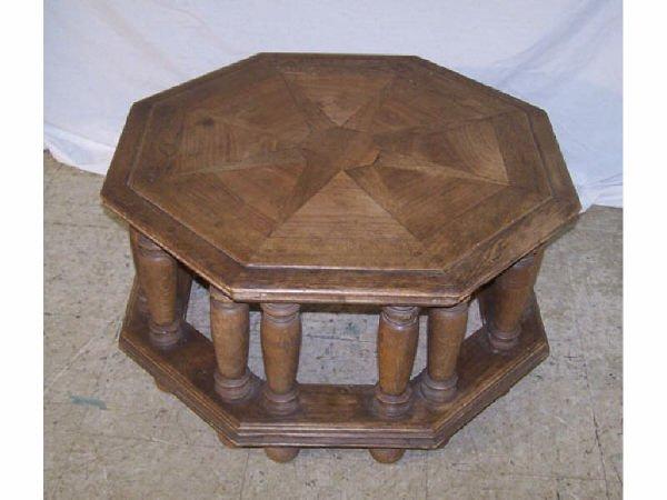 179: Oak Octagon Coffee Table