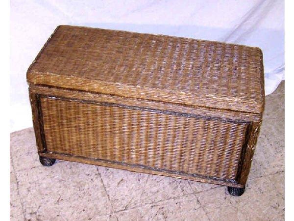 180: Antique Wicker Linen Chest