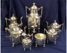 65 Fine Fancy Victorian Silverplate Tea Service