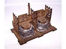 1511: Victorian Eastlake Double Inkwell