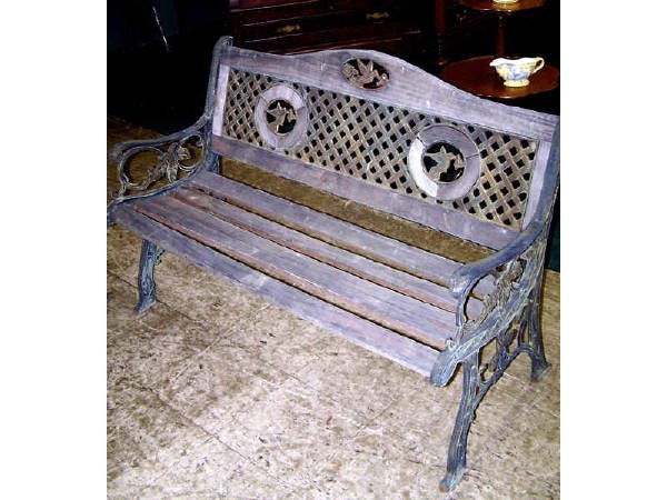 1426: Cast Iron and Wooden Park Bench