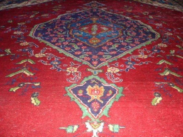 3006: 1950s 9 Ft x 12 Ft Tabriz Persian Rug
