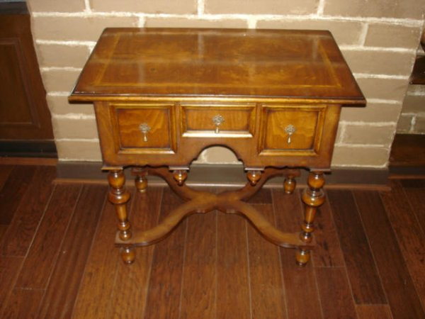 3101: 1920s Matching Light Walnut End Tables