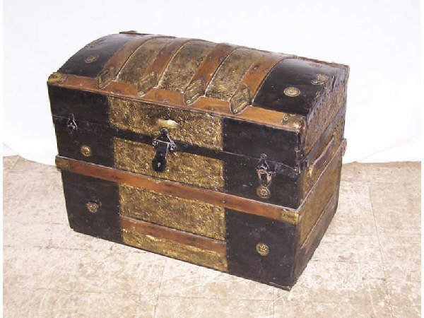 6: Victorian Camel Back 19th Century Trunk