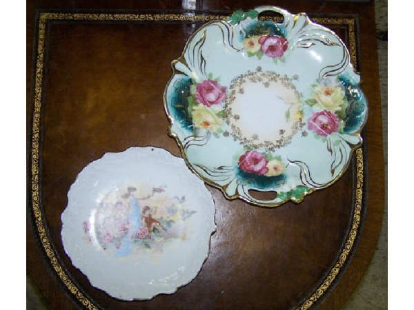 8: Porcelain Cherubs Plate with Painted Plate