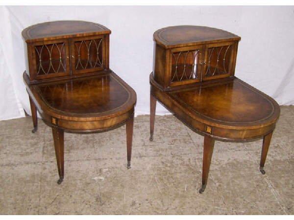 10: Pair of Walnut Adams Inlaid Side Tables