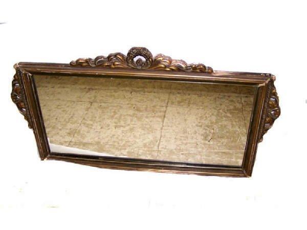 15: Antique Gilded Jeso Buffet Mirror