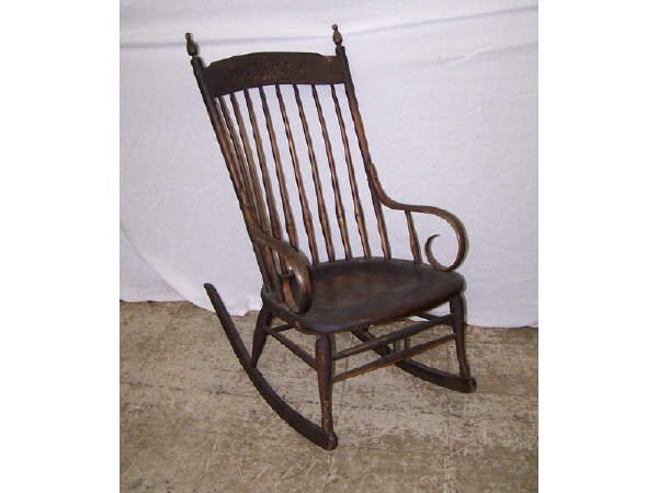 17: Antique Hickory Rocking Chair