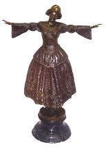 502: Large Bronze Flemish Dancer Figure