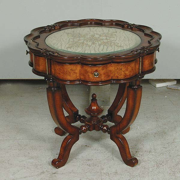 678: High Luster Walnut End Table