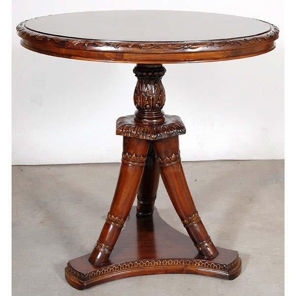 682: Fine Hand Carved Mahogany Table