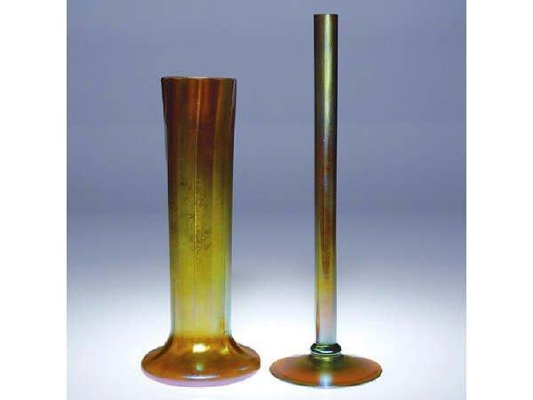 695: Fine Pair of  Steuben Vases