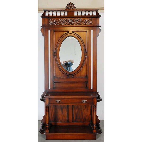 712: Fine Mahogany Hallstand with Mirror