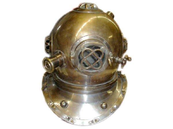 725: Brass Divers Style Helmet