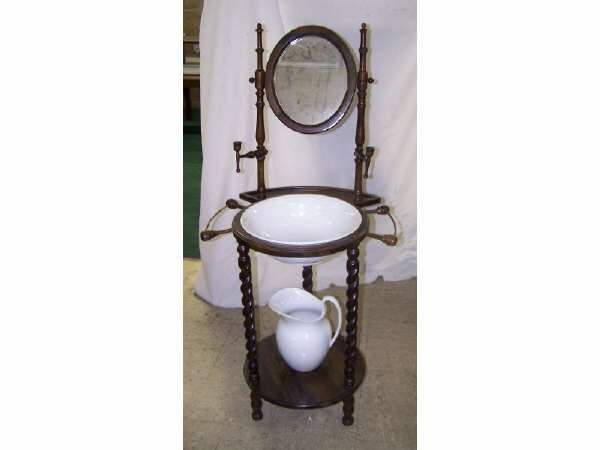 821: Vintage Bowl and Pitcher Stand and Set