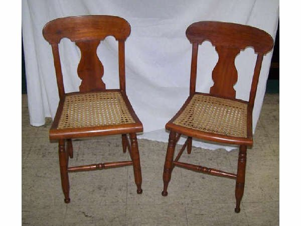 823: Pair of Period Cane Seat Chairs