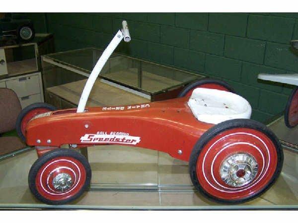 1037: Vintage Metal Speedster Ball Bearing Toy