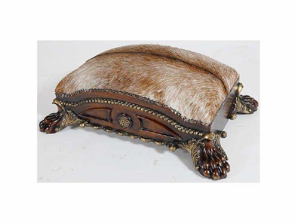 1502: Heavy Carved Clawfoot Footstool