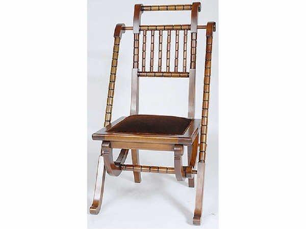 1507: Victorian Style Civil War Campaign Chair