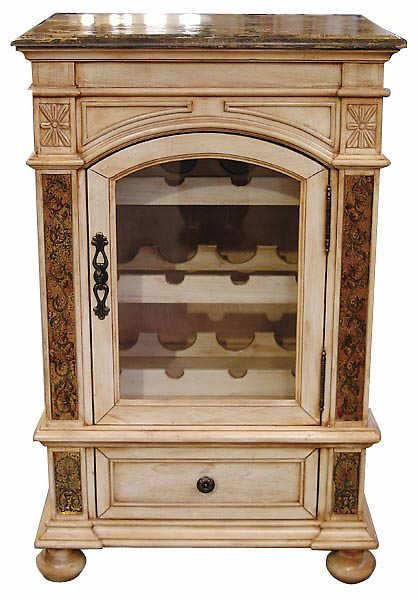 1516: Hand Carved Provencial Style Wine Rack