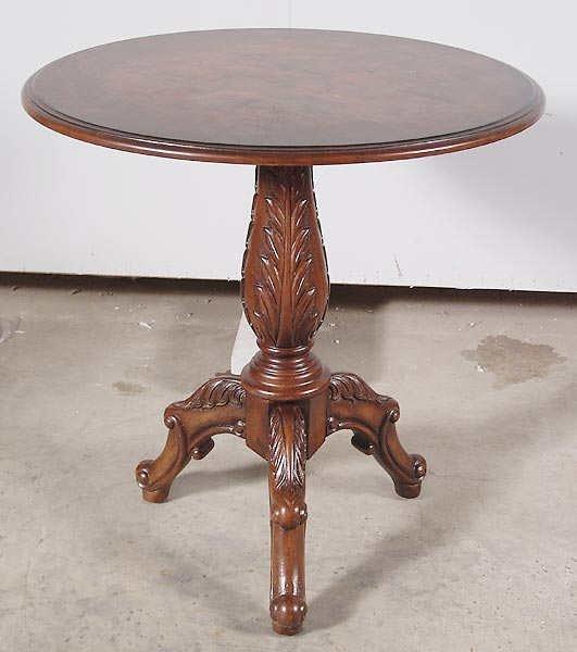 1521: Fine Burled Walnut Fancy French Style Table