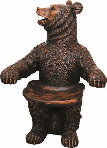 1525: Whimsical Bear Figural Chairs