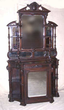 1615: Fine Rococo Revival Rosewood Etagere