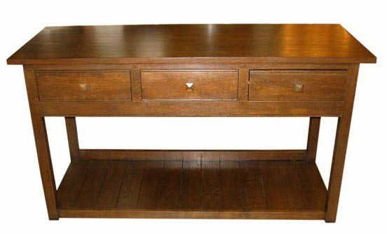 516: Solid Oak Mission Style Table