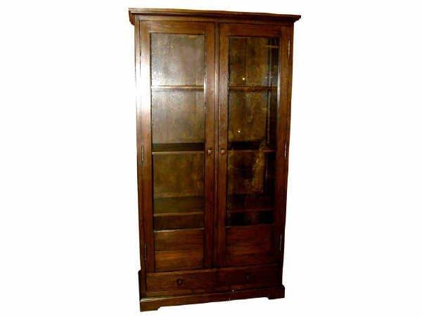 517: Oak Larger 2 Door Bookcase