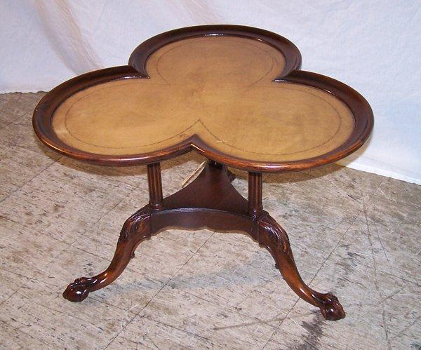 3: Fine Mahogany Clawfoot Clover Table