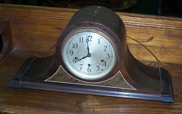 9: Seth Thomas Walnut Cased Camel Back Clock