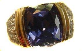1016: BLUE PARAIBA AND DIAMOND RING